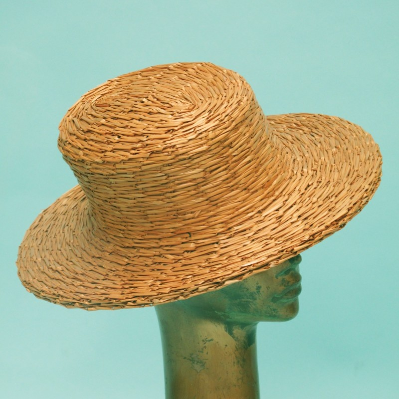 Raffia summer hat by Madame Paulette, Paris.