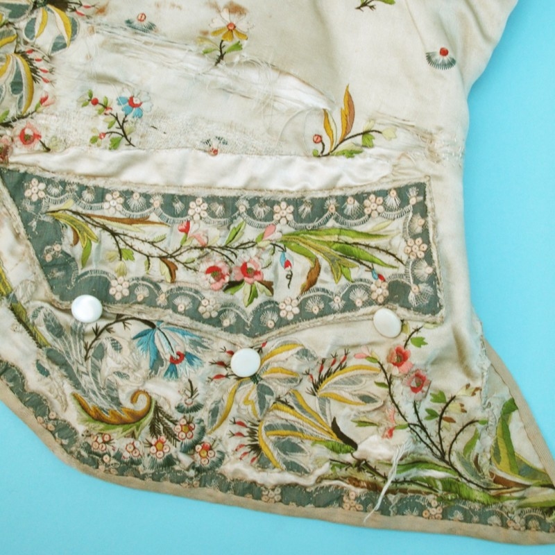 Beautiful but very distressed 18th century man's waistcoat More images available on request. Priced according to condition