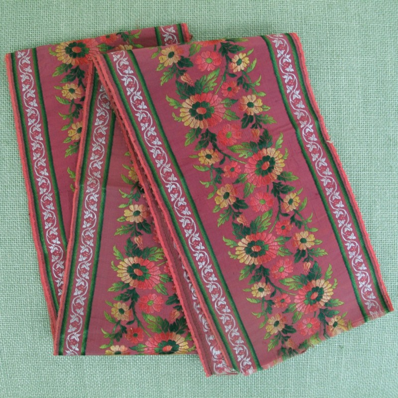 Selection of early silk ribbons.