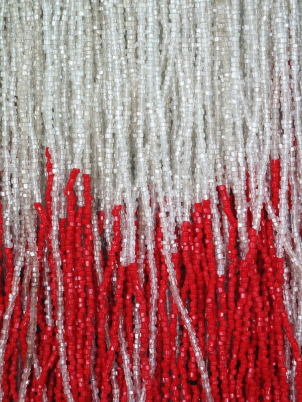 Striking example of 1920s red and white beading.