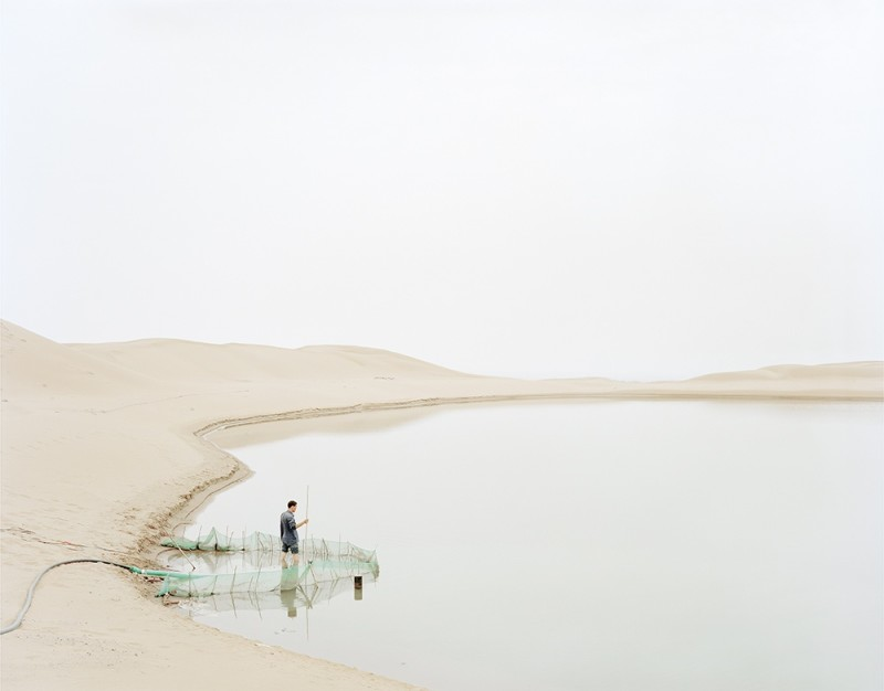 Zhang Kechun Man Pumping In The Desert 2011