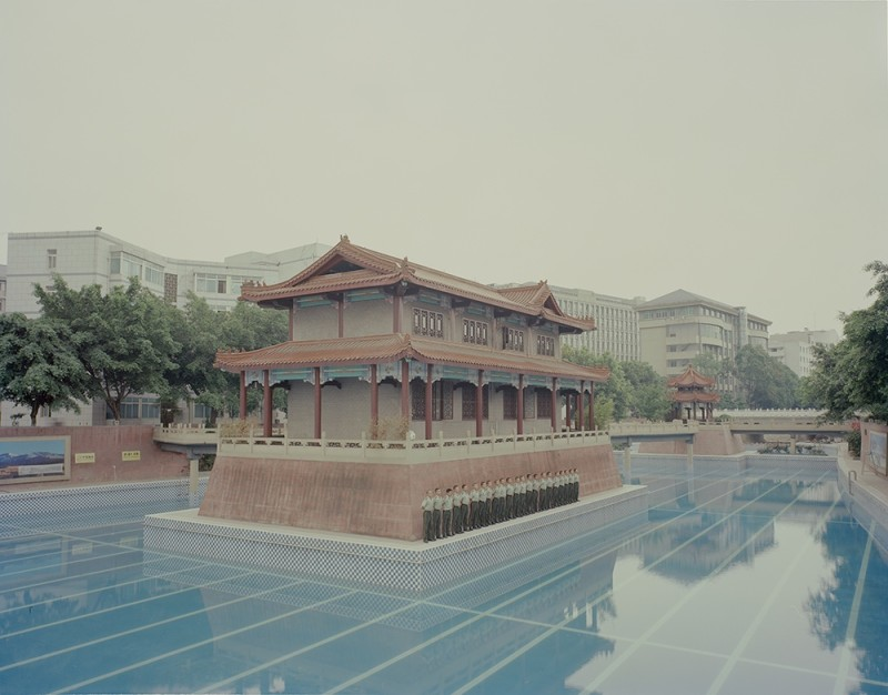 Zhang Kechun Soldiers Gathered By The Pool 2014