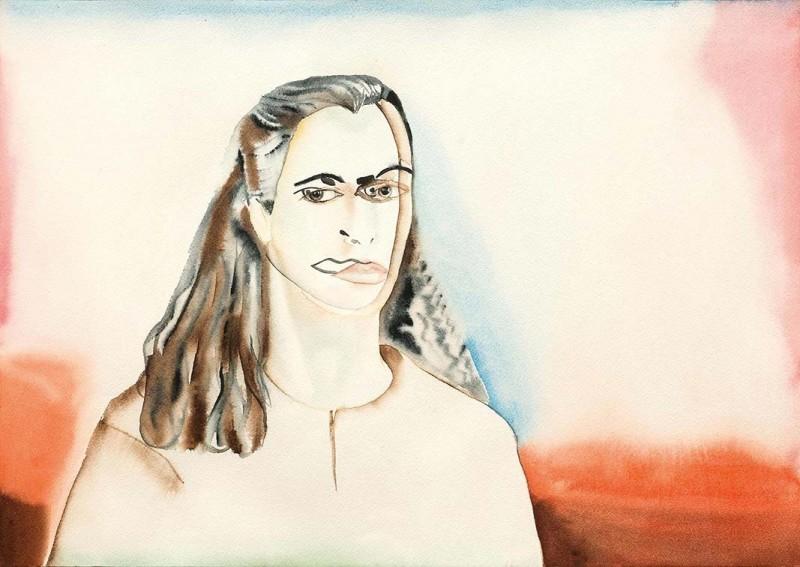 Francesco Clemente, Self-portrait with Alba, 1982