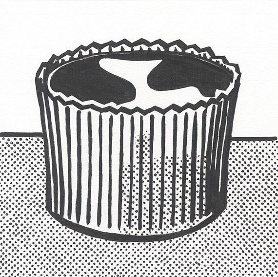 """Detail of NOT LICHTENSTEIN (Peanut Butter Cup, 1961) 12 x 12"""""""
