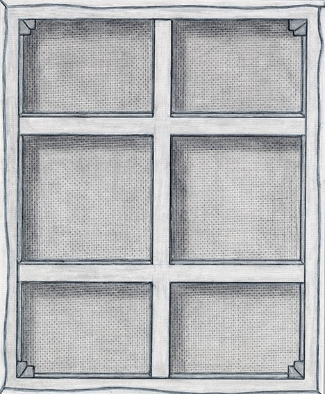 "Detail of NOT LICHTENSTEIN (Stretcher Bar with cross Bars V, 1968) 68 x 55"""