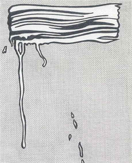 "Detail of NOT LICHTENSTEIN (Brushstroke I, 1965) 68 1/8 x 55 7/8"""