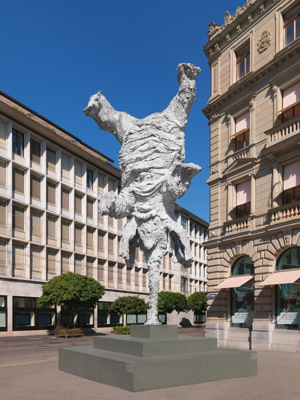 Gran Elefandret by Miquel Barceló on Paradeplatz Zurich