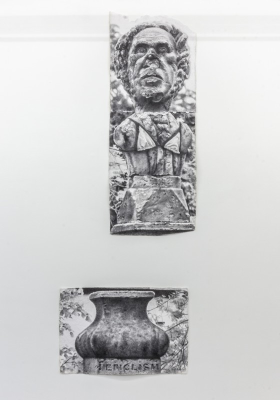 Robert McNally  Lang Jack New Years Day 1989, 2017  Jumbo Collage, graphite powder on handmade 1200g paper  177.5 x 68 cm ; 66.5 x 99.4 cm  69 7/8 x 26 3/4 in ; 26 1/8 x 39 1/8 in