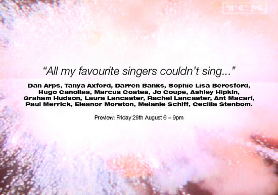 """""""All my favourite singers couldn't sing..."""""""