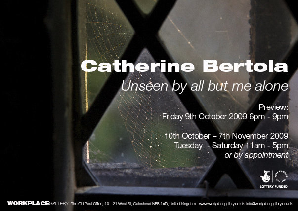 Catherine Bertola: Unseen by all but me alone