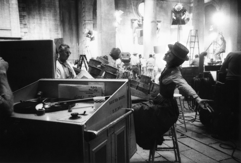 Bob Willoughby, AUDREY HEPBURN REHEARSING THE 'LOVERLY' NUMBER ON THE SET OF 'MY FAIR LADY', 1963