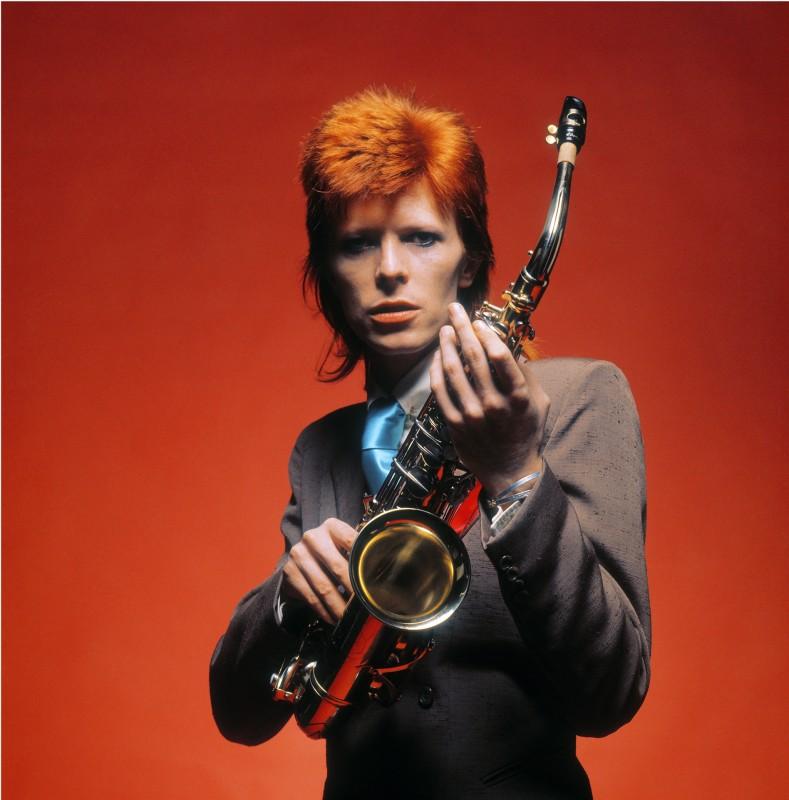 Mick Rock, DAVID BOWIE, SAXOPHONE, 1973