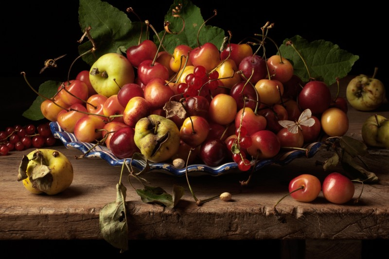 Paulette Tavormina, YELLOW CHERRIES AND CRAB APPLES, AFTER G.G., 2011