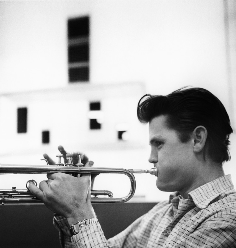 Bob Willoughby, CHET BAKER LAYING IT DOWN AT FANTASY RECORDING SESSION, LOS ANGELES, 1953