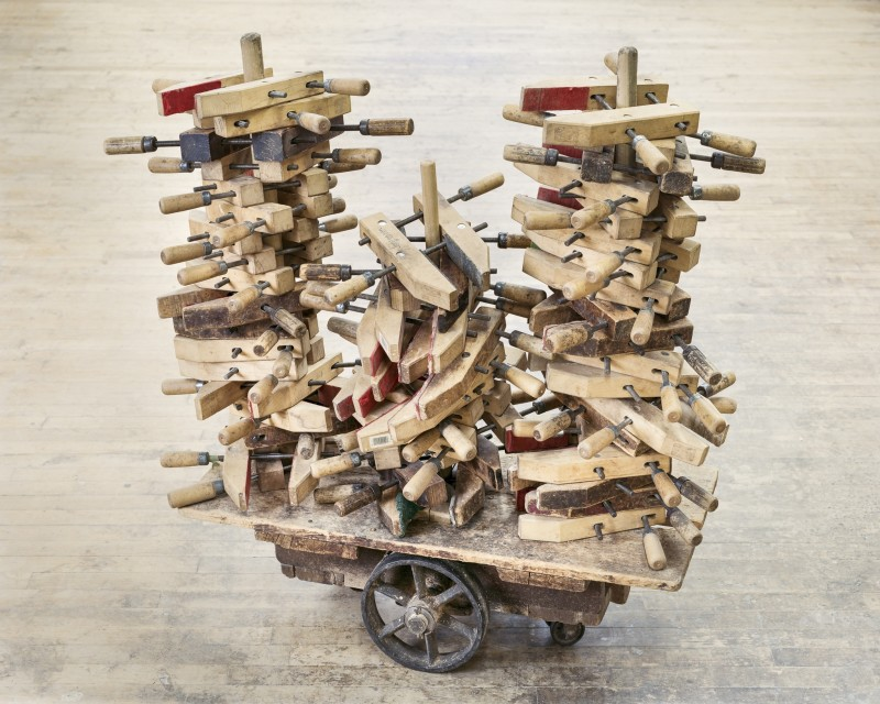 Christopher Payne, Clamps on Cart, Steinway & Sons Piano Factory, Astoria, NY, From The Making Steinway Series, 2012