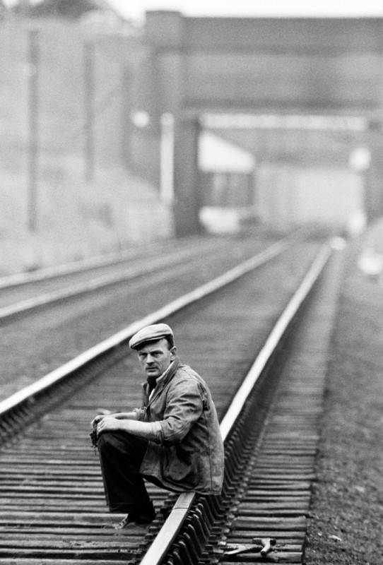 John Bulmer, MAN SITTING ON RAILWAY, THE POTTERIES, 1960