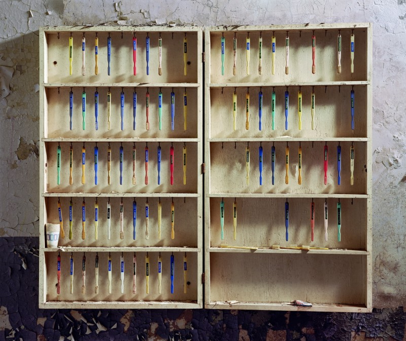 Christopher Payne, Toothbrushes, Hudson River State Hospital, Poughkeepsie NY, From The Asylum Series, 2005