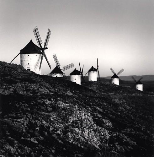 Michael Kenna, DON QUIXOTE'S GIANTS, STUDY 8, CONSUEGRA, LA MANCHA, SPAIN, 1996