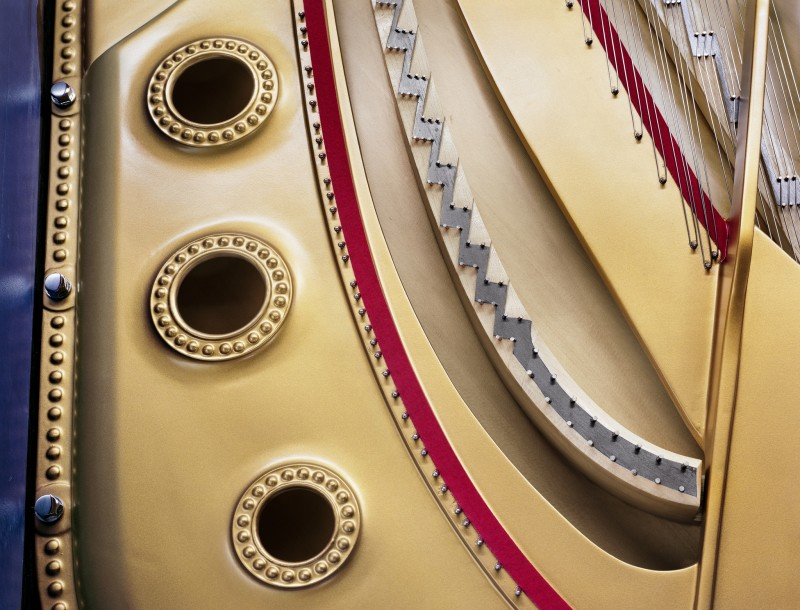 Christopher Payne, Model D Plate and Soundboard Detail, Steinway & Sons Piano Factory, Astoria, NY, From The Making Steinway Series, 2012