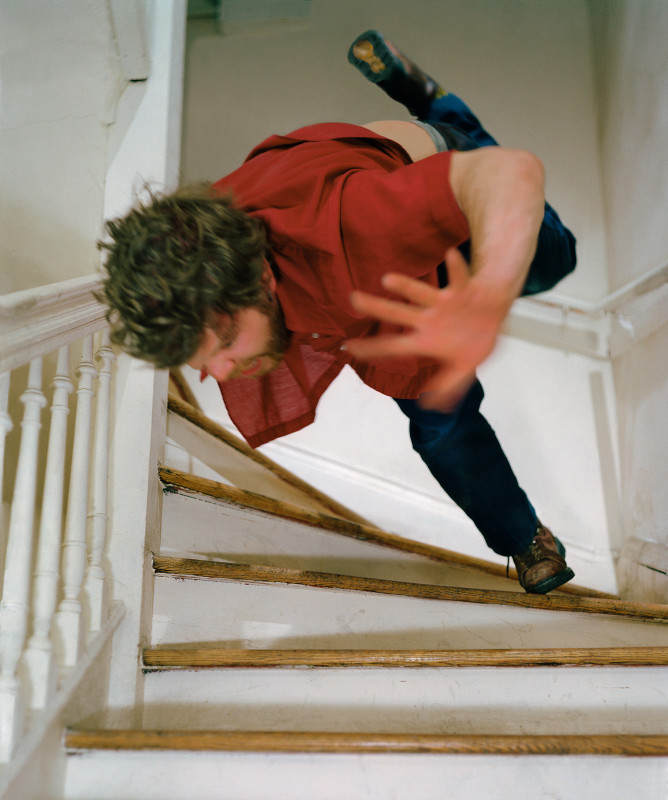 Kerry Skarbakka, STAIRS, FROM THE SERIES 'THE STRUGGLE TO RIGHT ONESSELF', 2002