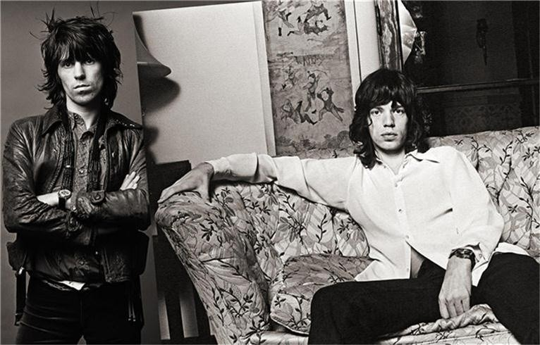 NORMAN SEEFF, KEITH RICHARDS & MICK JAGGER, LOS ANGELES, 1972