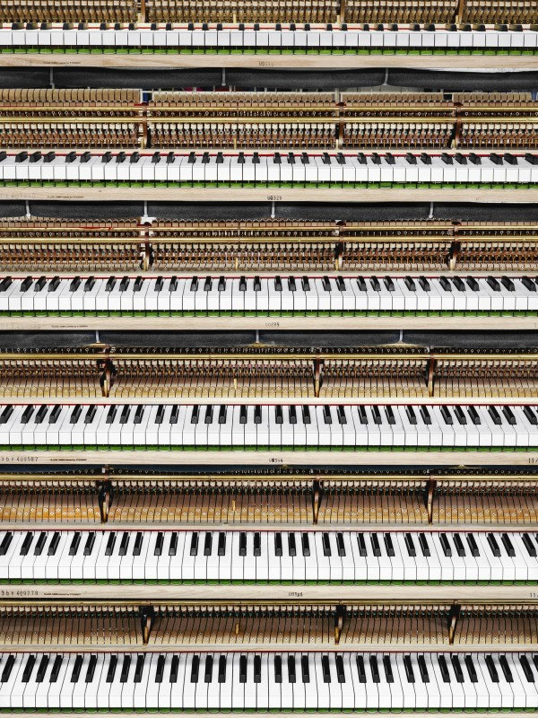 Christopher Payne, Key Polishing, Steinway & Sons Piano Factory, Astoria, NY, From The Making Steinway Series, 2012