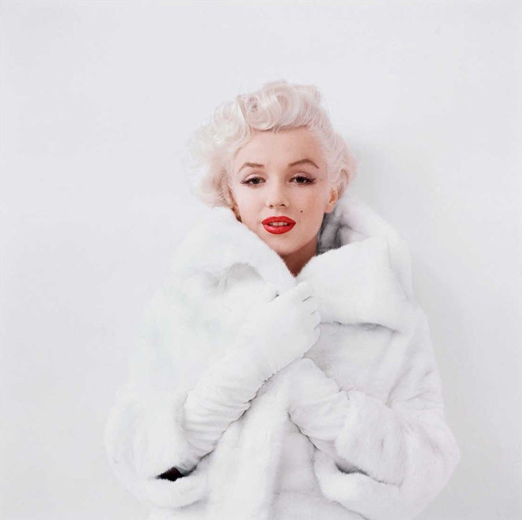 Milton Greene, MARILYN MONROE, WINSOME IN WHITE FUR, NEW YORK, 1955