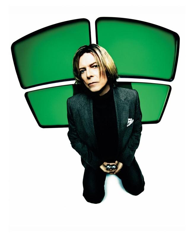Mick Rock, BOWIE, GREEN SCREENS, NEW YORK, 2002