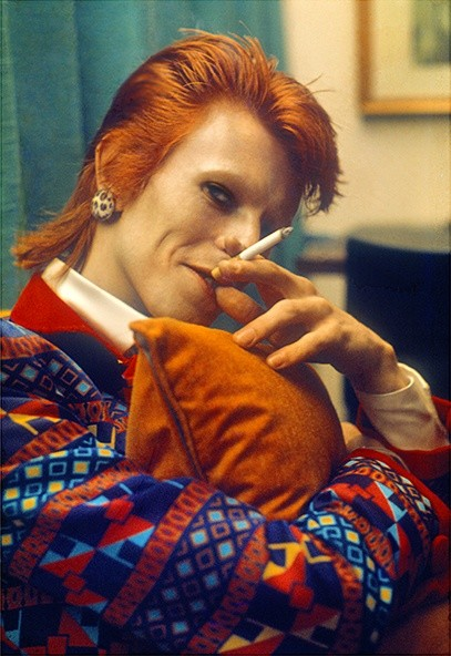 Mick Rock, BOWIE WITH CIGARETTE, QUEEN 2 LINER, UK, 1973