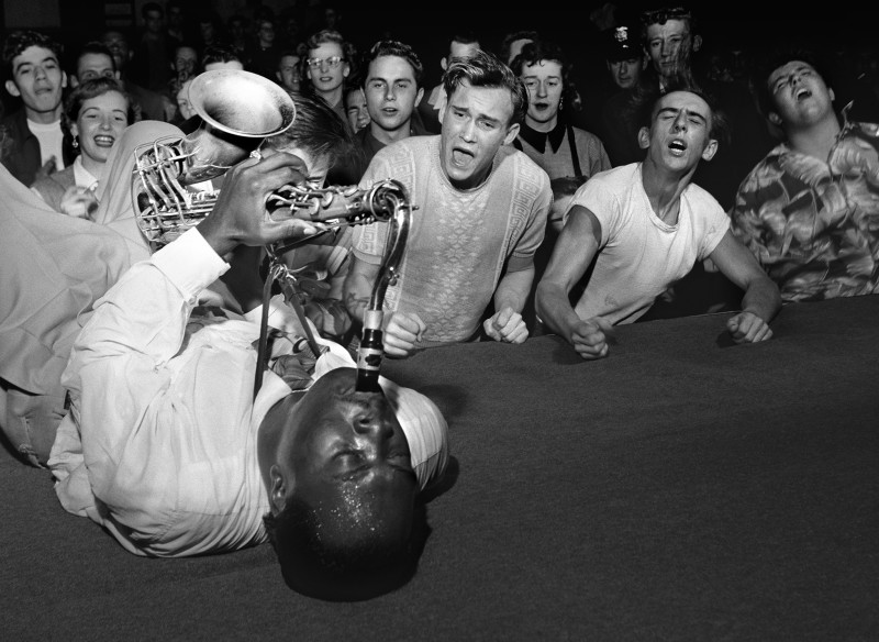 Bob Willoughby, BIG JAY MCNEELY, OLYMPIC AUDITORIUM, LOS ANGELES, 1951