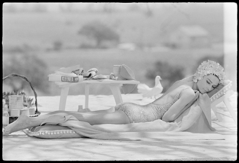 Terry O'Neill, AUDREY HEPBURN RELAXING DURING FILING FOR 'TWO FOR THE ROAD', 1967