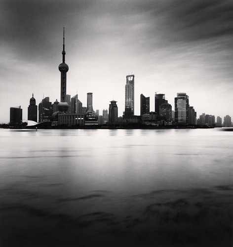 Michael Kenna, SKYLINE, STUDY 3, SHANGHAI, CHINA, 2008