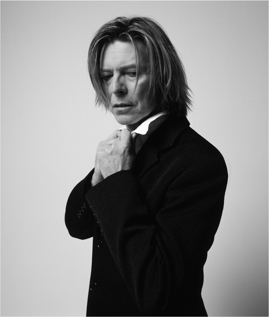 Mick Rock, BOWIE IN BLACK JACKET LOOKING DOWN, NEW YORK, USA, 2002