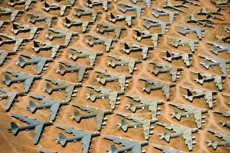 Alex Maclean, B-52, 'BONE YARD', TUCSON, ARIZONA, USA, 1991