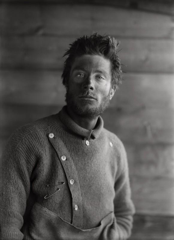 Herbert Ponting, BERNARD DAY ON HIS RETURN FROM THE BARRIER, 21 DECEMBER 1911
