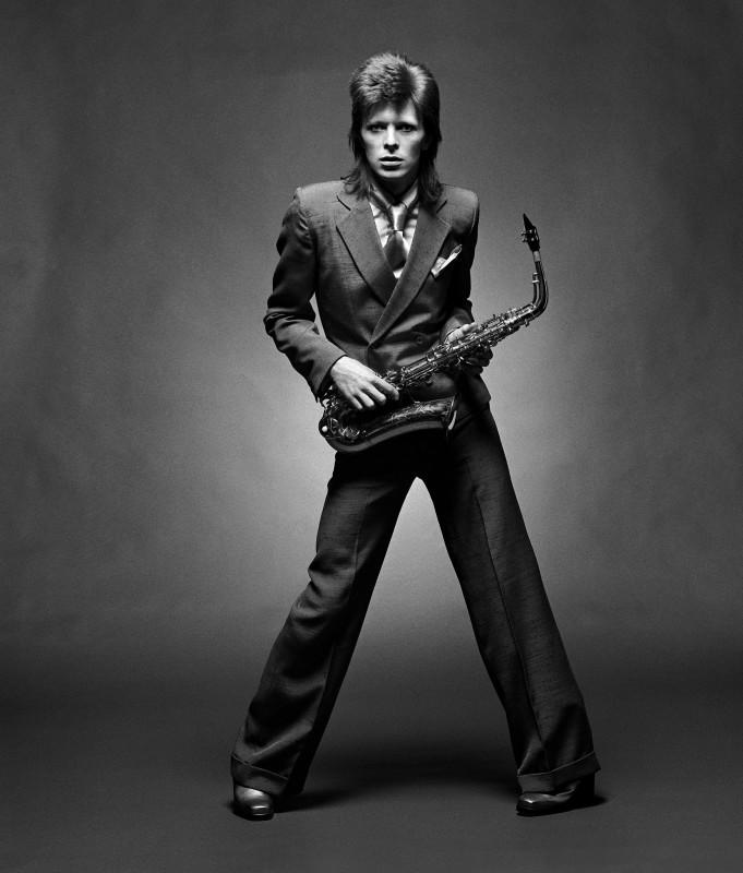 Mick Rock, DAVID BOWIE, SAXOPHONE, LONDON, 1972