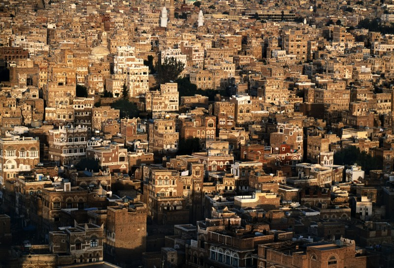Steve McCurry, AERIAL VIEW OF SANAA, YEMEN, 1997