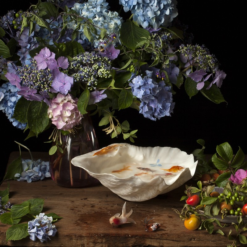 Paulette Tavormina, FLOWERS AND FISH IV, AFTER G.V.S., 2012