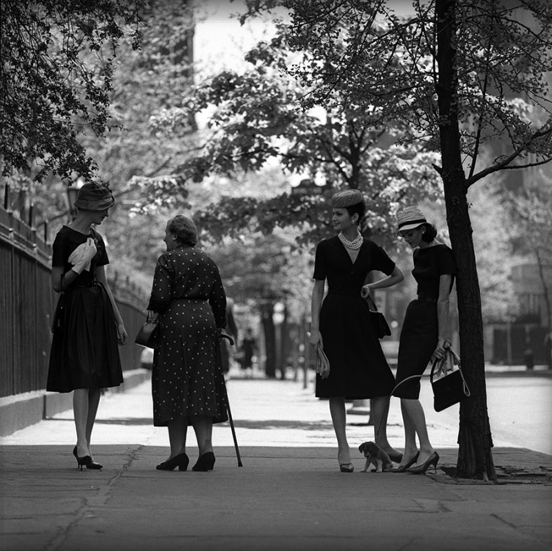 JERRY SCHATZBERG, FOUR AT GRAMERCY, 1959
