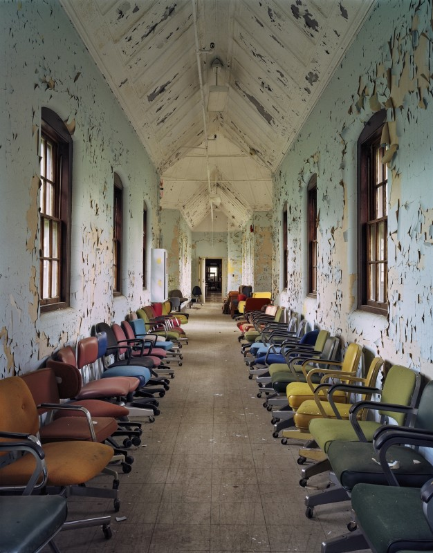 Christopher Payne, Hall of Chairs, St Lawrence State Hospital, Ogdensburg NY, From The Asylum Series, 2004