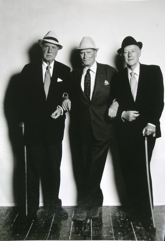 Terence Donovan, SIR RALPH RICHARDSON, LORD OLIVIER & ALEC GUINNESS, 1980