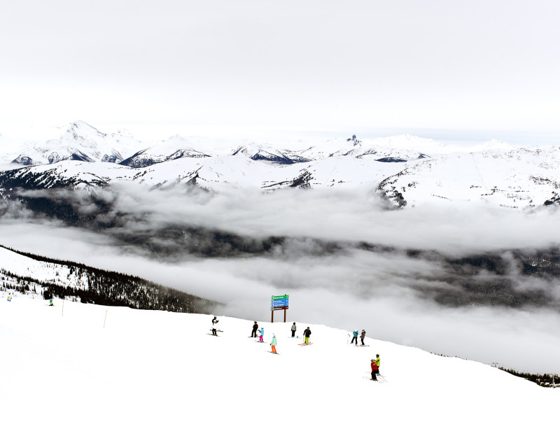 Joshua Jensen-Nagle, VIEW FROM THE TOP, WHISTLER, 2014