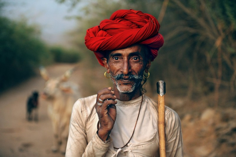 Steve McCurry, RABARI SHEPHERD, RAJASTHAN, INDIA, 2009