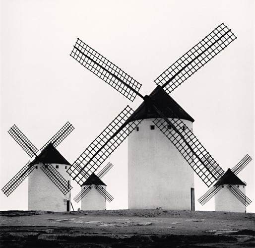 Michael Kenna, DON QUIXOTE'S GIANTS, STUDY 5, CAMPO DE CRIPTANA, LA MANCHA, SPAIN, 1996
