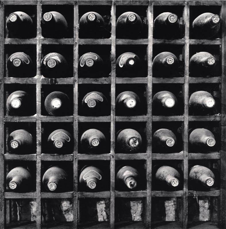 Michael Kenna, THIRTY BOTTLES OF WINE, PIETRANTONJ CANTINA, VITTORITO, ABRUZZO, ITALY, 2016