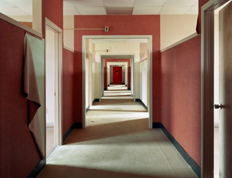 Christopher Payne, Dormitory Ward, Harlem Valley State Hospital, Wingdale NY, From The Asylum Series, 2004