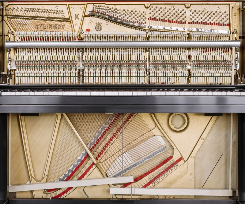 Christopher Payne, Model K Upright Piano, Steinway & Sons Piano Factory, Astoria, NY, From The Making Steinway Series, 2013