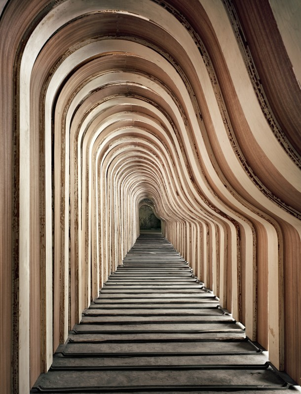 Christopher Payne, Piano Rims in Rim Conditioning Room, Steinway & Sons Piano Factory, Astoria, NY, From The Making Steinway Series, 2011