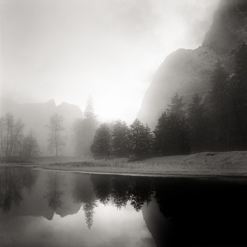 Jeffrey Conley, MERCED RIVER AND LOWER BROTHER, YOSEMITE NATIONAL PARK, CALIFORNIA, 1991