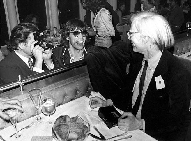 Mick Rock, MICK JAGGER AND ANDY WARHOL, WINDOWS ON THE WORLD, NEW YORK, 1978